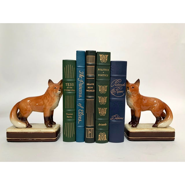 Staffordshire Style Fox Bookends – a Pair For Sale - Image 10 of 12