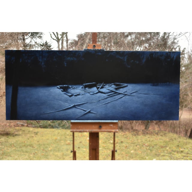 """Contemporary 2010s Contemporary Painting, """"Old Cellar Hole in the Woods"""" by Stephen Remick For Sale - Image 3 of 11"""