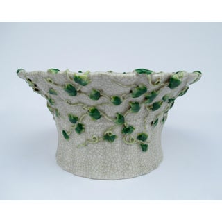 Vintage Ceramic Crackle Center Bowl With Adorned English Ivy by United Wilson/Hong Kong Preview