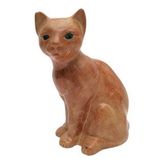 Mid Century Modern Ceramic Cat Boho Shabby Chic Decor For Sale