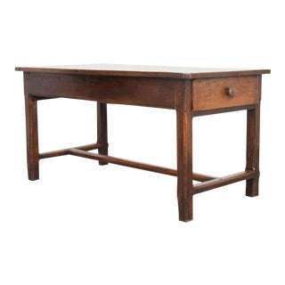 FRENCH 19TH CENTURY OAK AND WALNUT FARMHOUSE TABLE