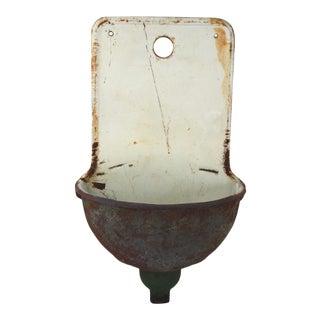European Cast Iron Wall Fountain Lavabo Planter For Sale