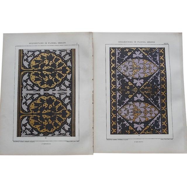Ornamental Design Folio Size Chromolithograph - a Pair - Image 1 of 4