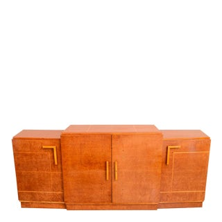 Late Art Deco Birds-Eye Maple and Maple Inlaid Credenza, Eli Jacques Kahn For Sale