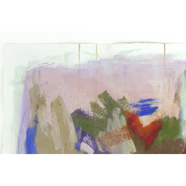 Large Framed Abstract Diptych Signed Acrylic Painting on Paper Dated 2014 For Sale In Miami - Image 6 of 13