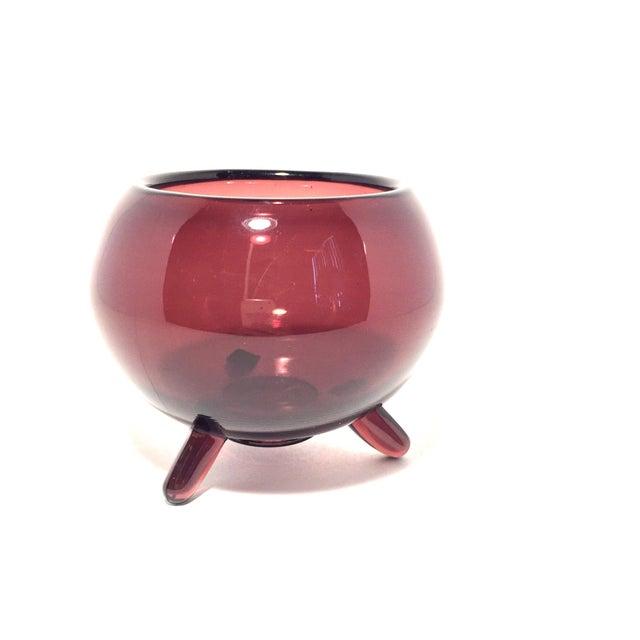 MCM Viking Footed Art Glass Dish - Image 4 of 7