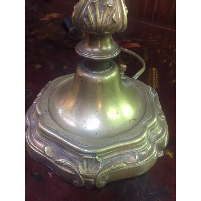 Belle Epoque Early 20th Century Antique French Bronze Candle Lamps - A Pair For Sale - Image 3 of 12