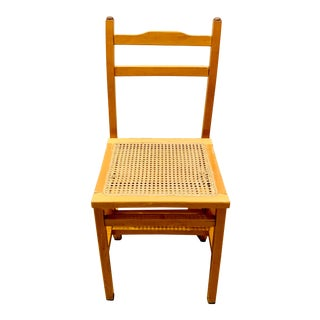 Mid Century Ladder with Cane Chair For Sale