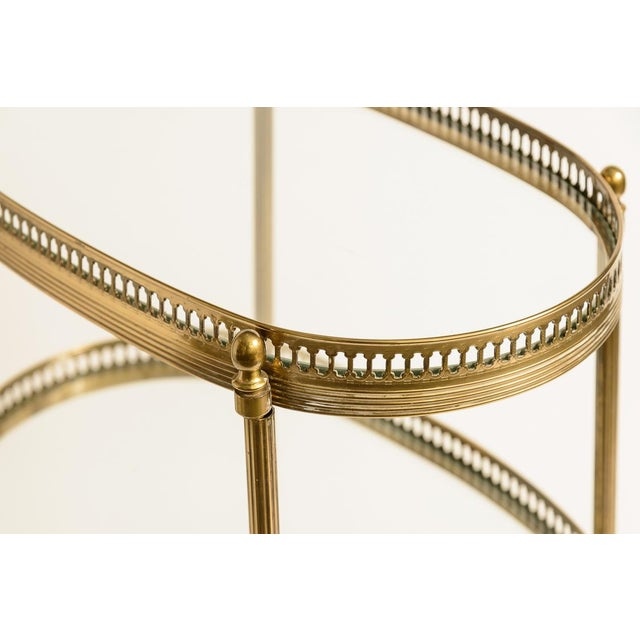 French Petite Brass Three Tier Gallery Table, After Maison Jansen For Sale - Image 9 of 13