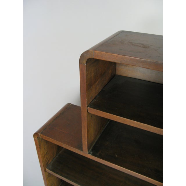 1950s Pair of 1940s Walnut Skyscraper Bookcases For Sale - Image 5 of 9