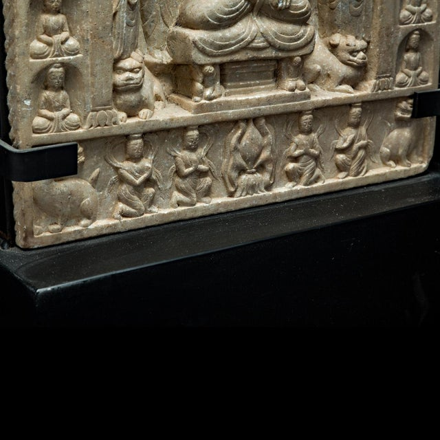 Asian Northern Qi Buddhist Stele For Sale - Image 3 of 4