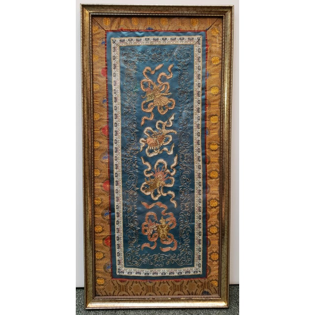 Chinese Early 20th Century Chinese Framed Embroidered Silk Panel For Sale - Image 3 of 3
