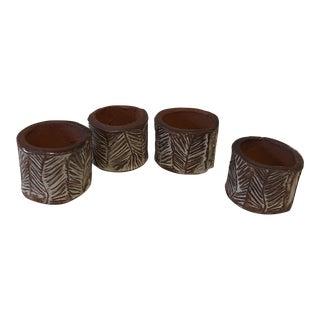 Terracotta Napkin Rings, Set of 4 For Sale