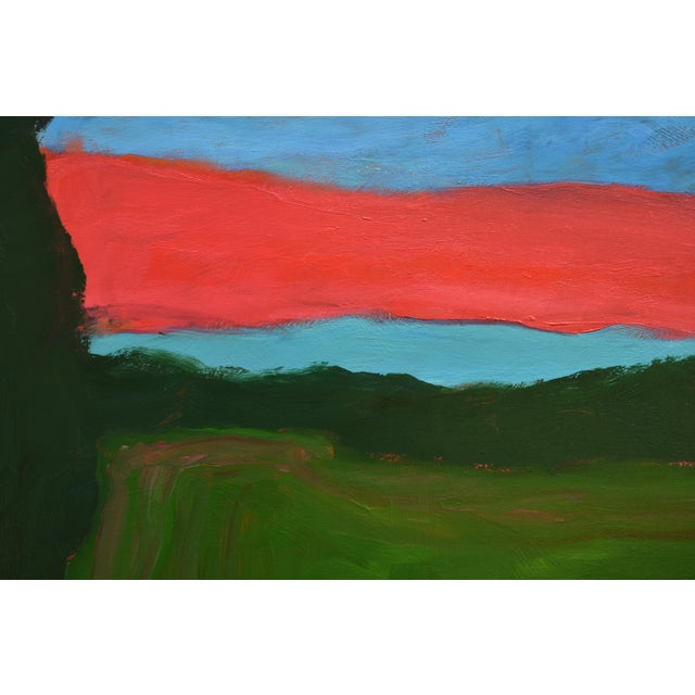 "Abstract 2010s Abstract Painting, ""Sunset over Fields"" by Stephen Remick For Sale - Image 3 of 10"