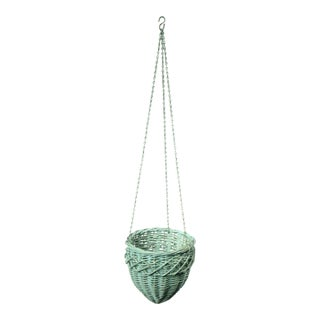 Hanging Wicker Planter Basket