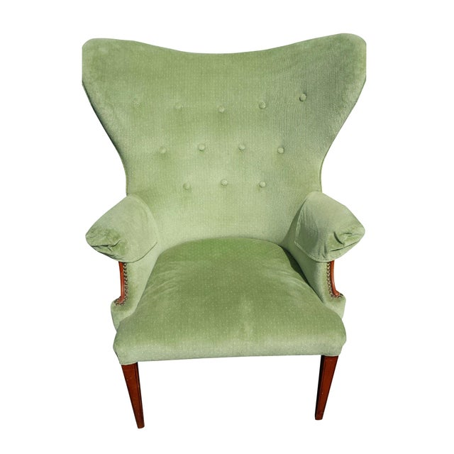 Vintage Butterfly Wingback Chair For Sale