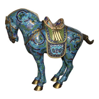 Large Chinese Cloisonne Horse For Sale