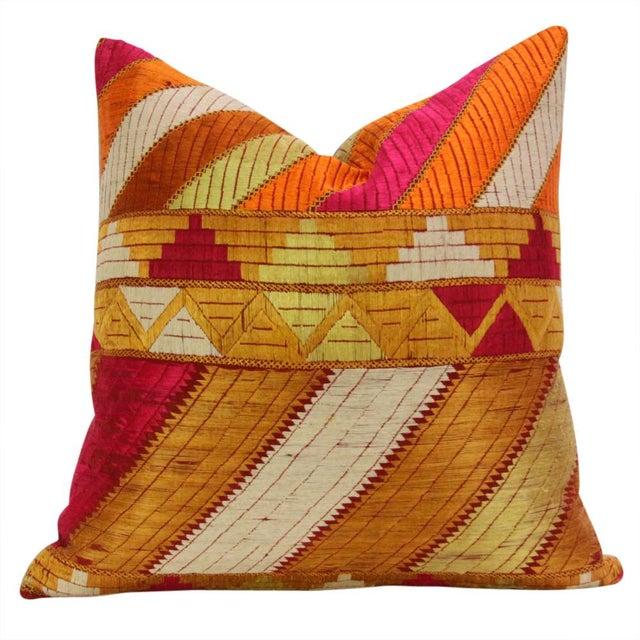 Mehreen Phulkari Pillow, Pair - Image 3 of 5