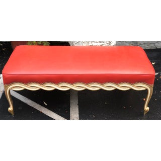 Regency Style Leather Ribbon Bench by Randy Esada Designs for Prospr Preview
