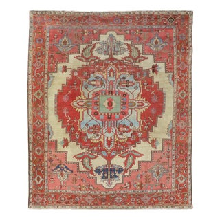 Serapi Heriz Carpet - 9′6″ × 11′3″ For Sale