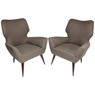 Italian Mid Century Armchairs - a Pair For Sale