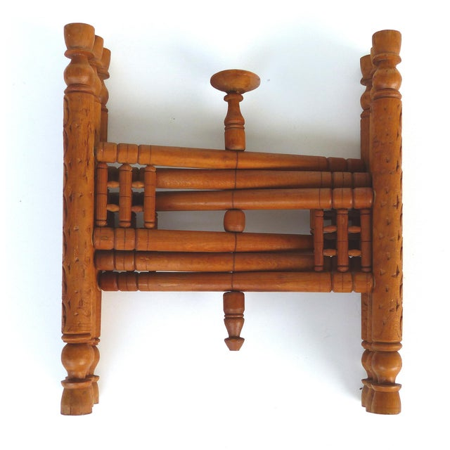 Mid 20th Century 20th Century Moroccan Brass Table Tray on Stand For Sale - Image 5 of 12