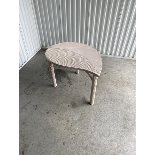 Fabulous pencil reed side table. Made by Sandtown and done in a beautiful cerused finish. Bright and chic. Great as a side...