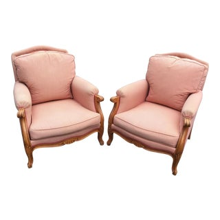 1960s Vintage French Club Chairs- A Pair For Sale