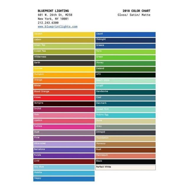 "Blueprint Lighting ""Counterpoint"" Brass & Enamel Pendant *Custom Colors* - Image 8 of 8"
