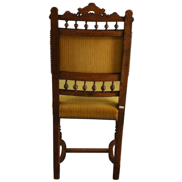 Antique French Dining Chairs Henry II - Set of 6 - Image 9 of 10