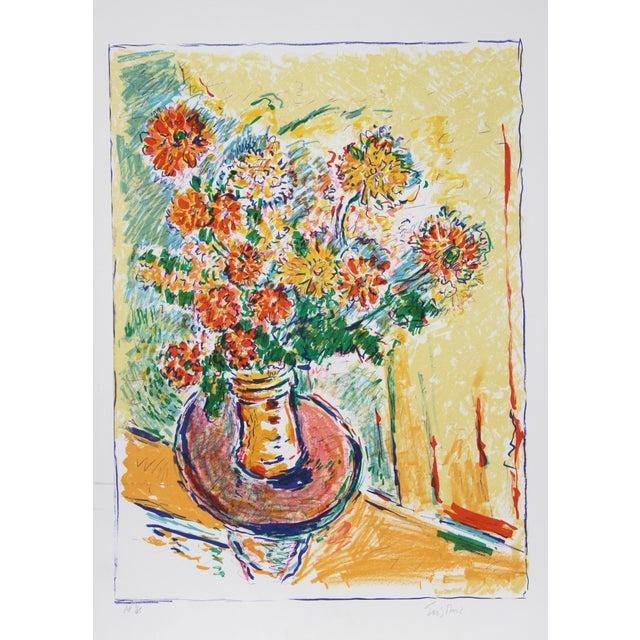 Impressionism Wayne Ensrud, Flower Flight, Lithograph For Sale - Image 3 of 3