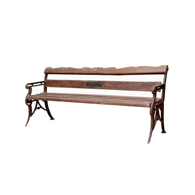 Antique Reclaimed Teak Bench - Image 3 of 3