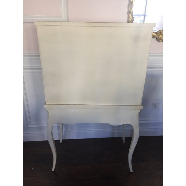 French Provincial Secretary Desk With Mesh Doors - Image 5 of 11