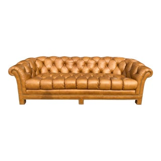 Modern Leather Chesterfield Sofa For Sale