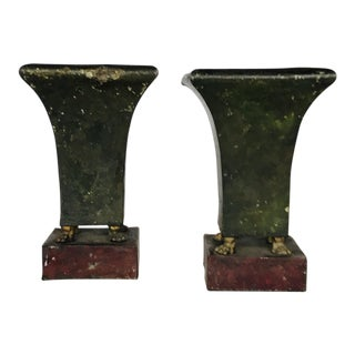 French Tole Empire Jardinieres - a Pair For Sale