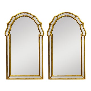 Pair of Hollywood Regency Style Giltwood Mirrors by La Barge For Sale
