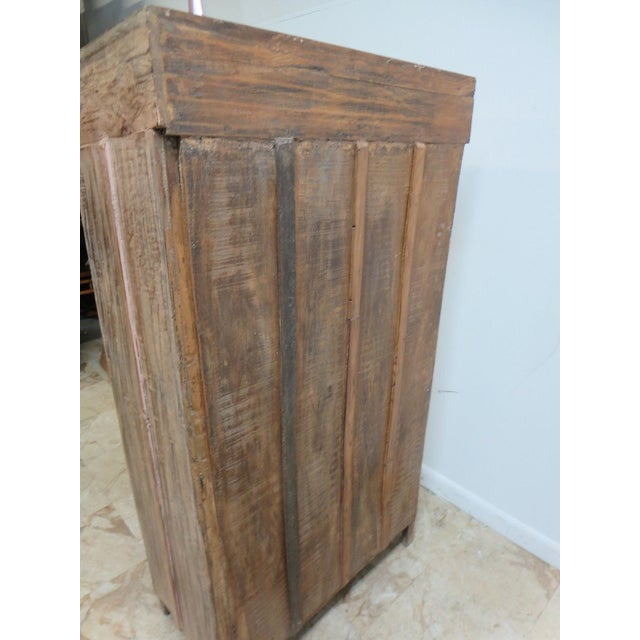Wood Antique Primitive China Cabinet Cupboard For Sale - Image 7 of 7