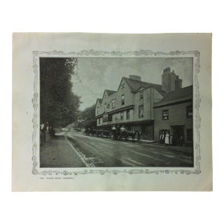"""1906 """"The Kings Head Chigwell"""" Famous View of London Print For Sale"""