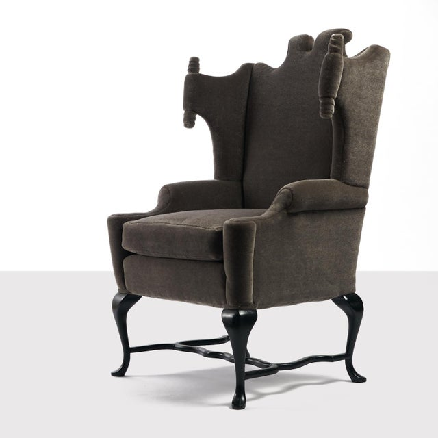 Traditional Arturo Pani Wingback Chairs For Sale - Image 3 of 13