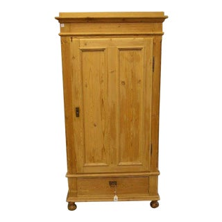 English Pine Hall or Kitchen Cupboard Armoire For Sale