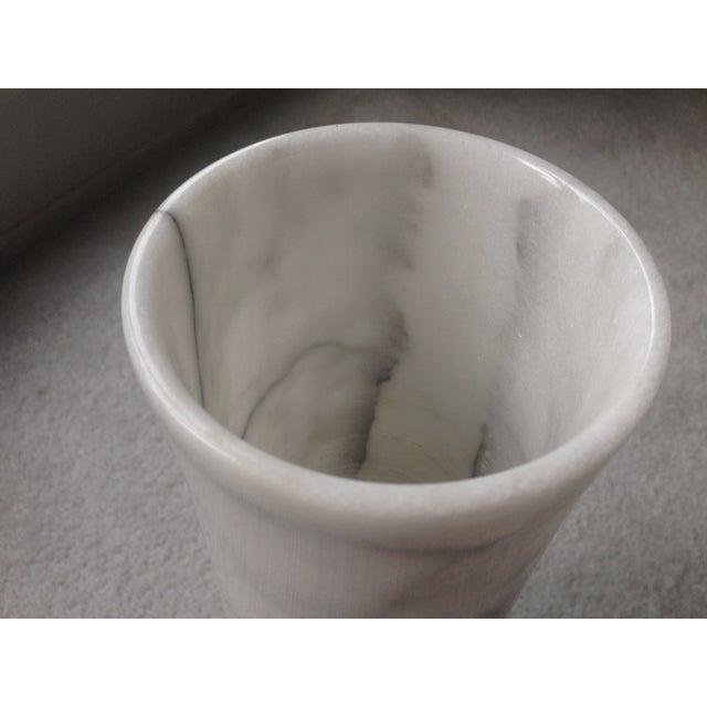 "Vintage 17"" White Marble Vase - Image 4 of 11"