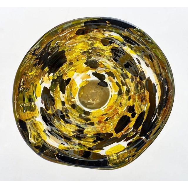 """Alberto Donà Contemporary Murano Glass """"Pollock"""" Vase For Sale - Image 4 of 12"""