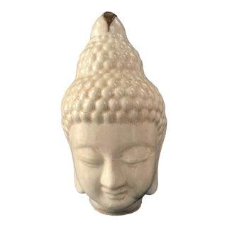 Ivory Majolica Buddha Head For Sale