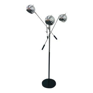 "Vintage Mid Century Modern ""Eyeball"" Floor Lamp For Sale"