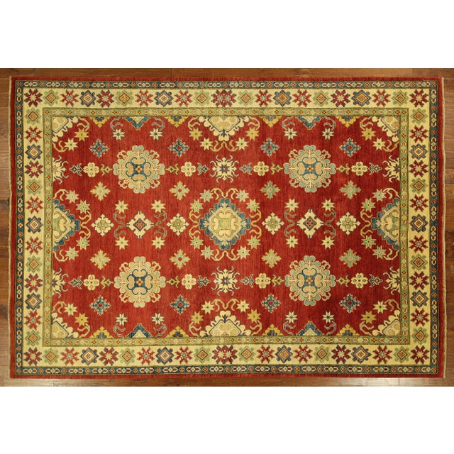 Super Kazak Hand Knotted Rug Red - 9' x 12' - Image 2 of 11