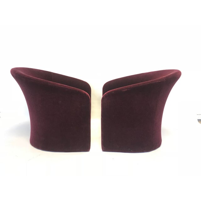 Dark Plum Mohair Club Chairs by Massimo Vignelli For Sale - Image 10 of 10
