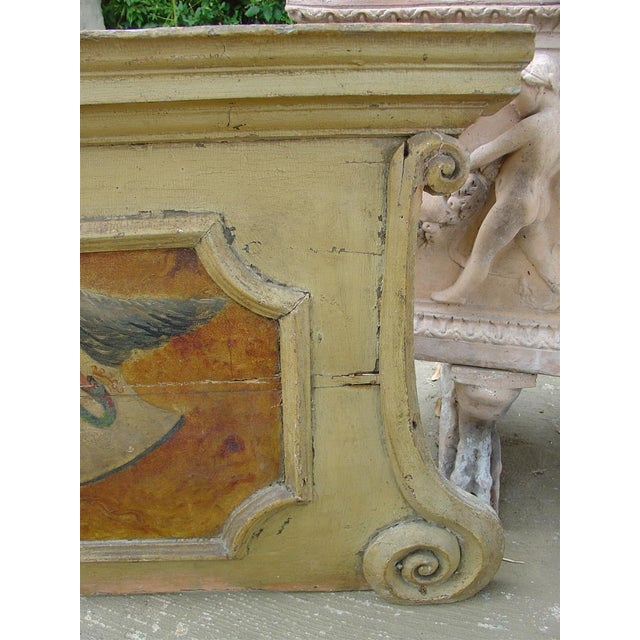 French 18th Century Painted Overdoor from Nice, France For Sale - Image 3 of 6