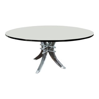 Charles Hollis Jones Lucite Pedestal Table For Sale