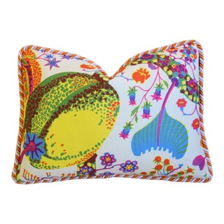 "Designer Josef Frank Floral Brazil Feather/Down Pillow 23"" X 17"" For Sale"