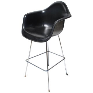 1 Midcentury H Miller Eames Fiberglass Stool With H-Base For Sale